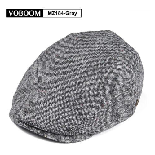 MENS WOOL BLEND IVY CAP TWEED HERRINGBONE NEWSBOY GATSBY FLAT WINTER WARM HAT 1
