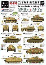 Star Decals 1:35 German Tanks in Italy Pt.5 SPGs AFV Grille Marder StuG IV 35858