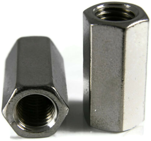 Qty 25 #10-24 X 5//16 x 3//4 Stainless Steel Coupling Nuts Threaded Rod UNC