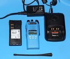 ✪BLUE✪ MOTOROLA HT1250 UHF 403-470 Mhz 128ch LIMITED KEYPAD IMPRES AAH25RDH9AA5