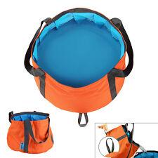 6-10L Foldable Wash Bag Basin Bucket Pot Sink for Camping Travel Hiking Orange