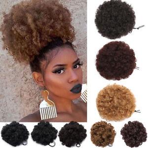 Fashion-Pretty-Woman-Girl-Ponytail-Holder-Hairpiece-Afro-Puff-Wig-Hair-Ring-Bun