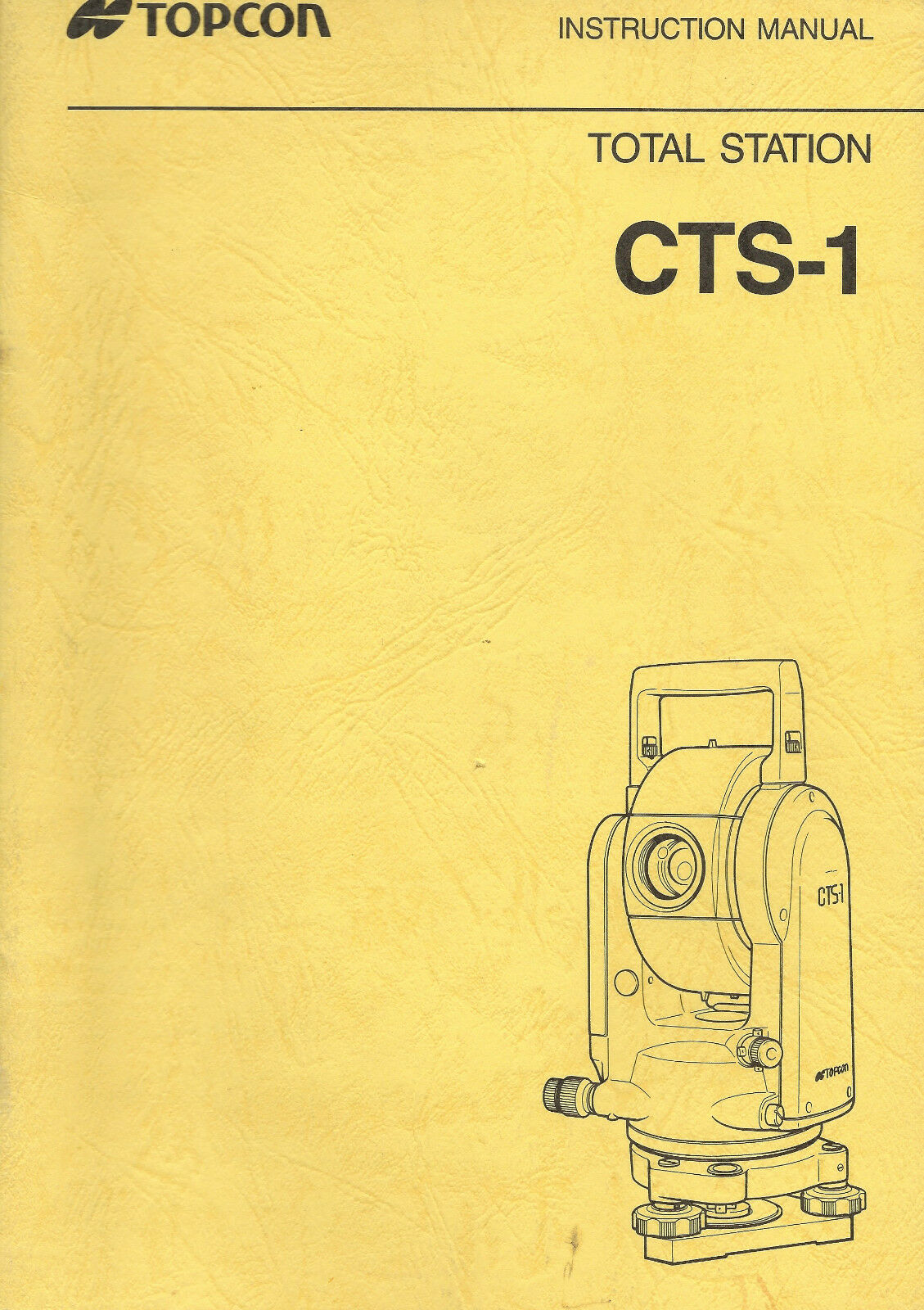 New Topcon Total Station CTS 1 Instruction Manual