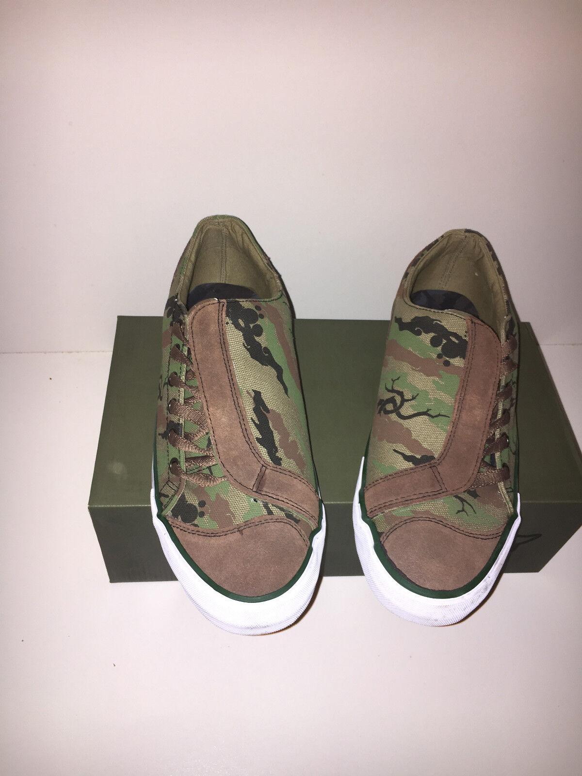 MAHARISHI MENS WOODLAND ASYM DAY zapatos IN PRINTED BONSAI HEMP CANVAS