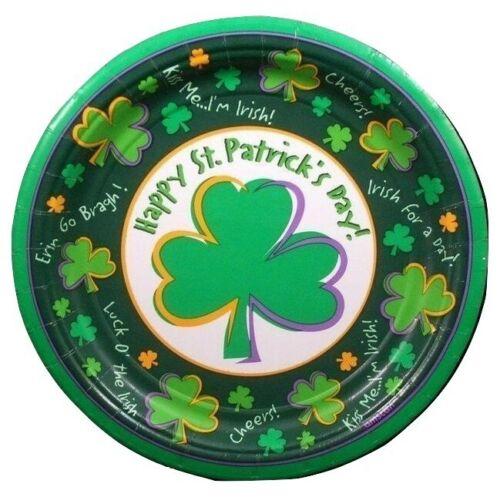 St Patricks Day Shamrock Dessert Plates Party Supplies 12