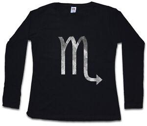 Astrology shirt Sleeve Horoscope Long Star T Scorpio Zodiac Sign Women qa84f