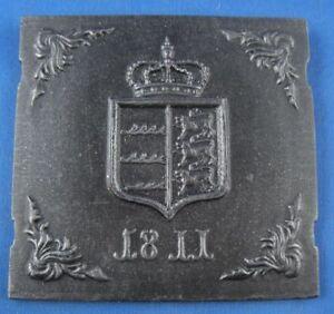 Metallobjekte Halbergerhütte Plakette Eisen Eisenplakette 1989/90
