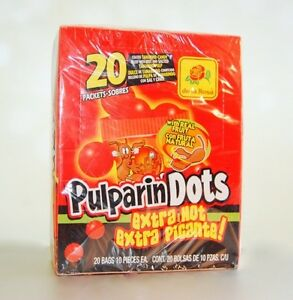 4de718f163 Details about De La Rosa PULPARINDOTS Extra Picante CHEWY CANDY 20 IND.  BAGS** Free Shipping