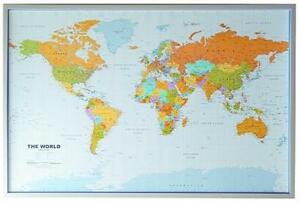 carte du monde li ge tableau anglais 12 pinn drapeaux et fanions 90x60cm ebay. Black Bedroom Furniture Sets. Home Design Ideas
