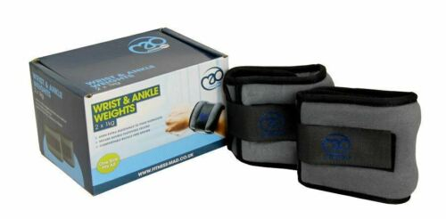 2 x 1KG Fitness Mad Strength FANKLE2 Wrist /& Ankle Weights Agility Training
