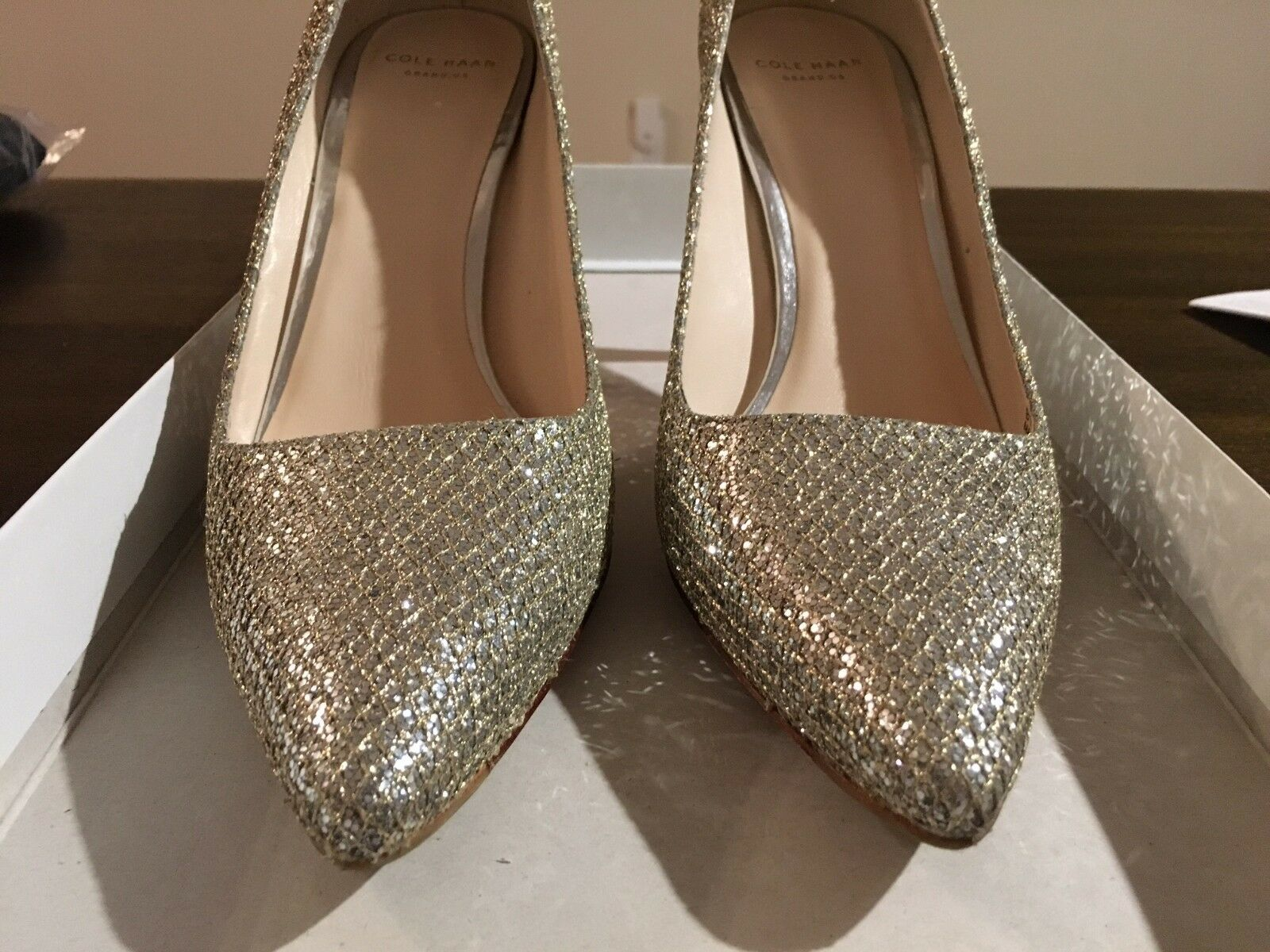 Cole Haan Bradshaw Pump (85mm) Silver Pointy Toe Size Size Size 8 0be82e