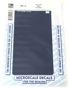 White 4 1//2in x 7 1//2in Use with Any Scale Microscale Decal #TF-1 Trim Film