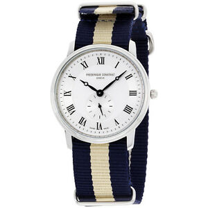 Frederique-Constant-Slimline-Silver-Dial-Nylon-Strap-Men-039-s-Watch-FC235M4S6NVYBGE