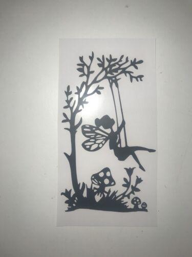 Fairy Sitting On A Swing Wine Bottle Vinyl Decal