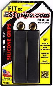 ESI-FIT-XC-Ergo-Bike-MTB-Grips-100-Silicone-Shock-Absorbing-Black-133mm-FTXBK