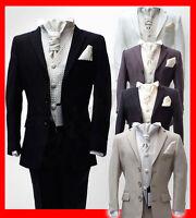 UK Boys 5 Piece Pageboy Wedding Cravat Suits in Black, Navy, Ivory, Grey Suit