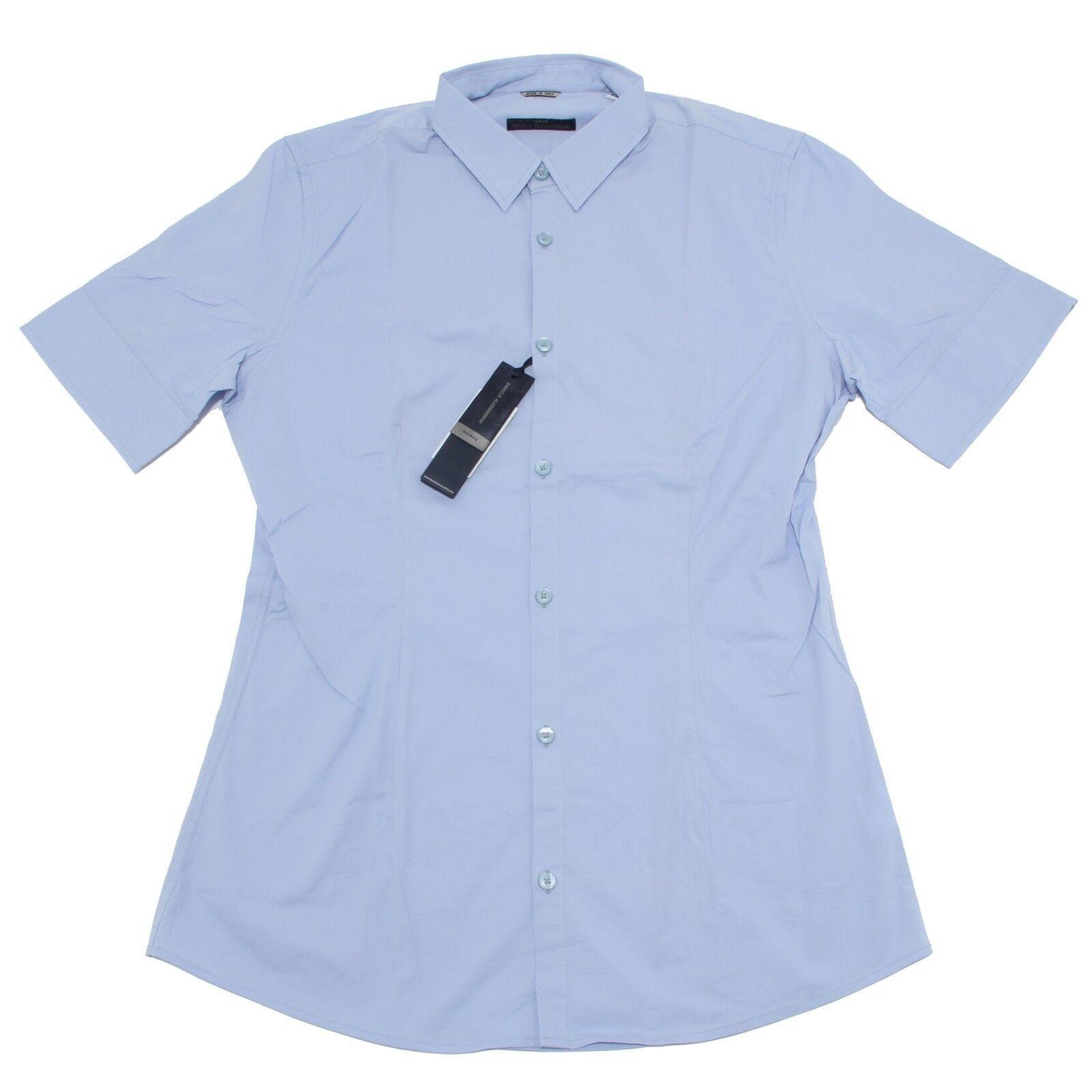 8199 camicia short sleeve DANIELE ALESSANDRINI  camicie uomo shirt men