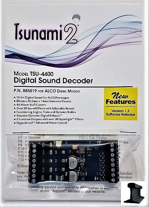 Soundtraxx Tsunami  nuevo 2019  2 TSU-4400 decodificador DCC Alco de sonido 4 Amp  885019
