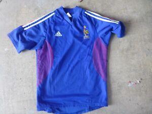 Détails sur ancien maillot tshirt equipe de France Adidas taille XS climalite collection FFF