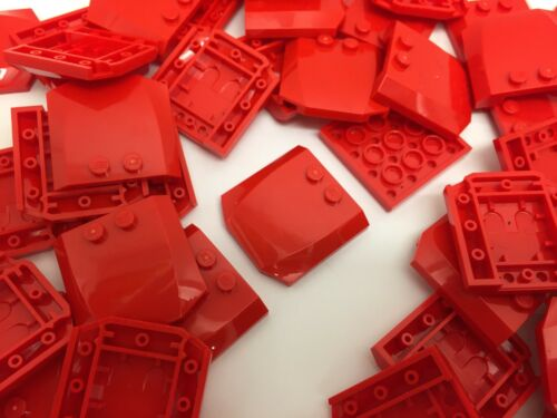 2 Pieces Per Order LEGO 45677-4x4x 2//3 RED Curved Wedge Slope Car Bonnet