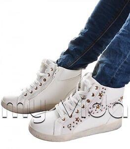 B22 Mod Donna Con Stelline Sneakers Sportive E Borchie Scarpe Strass 7zq8dwP8