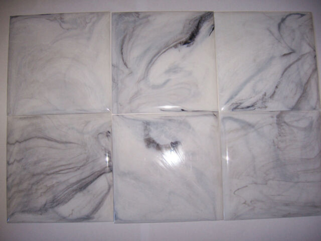 Vintage White Grey Marble Plastic Tile 4 1 Wall Bathroom Kitchen Polystyrene