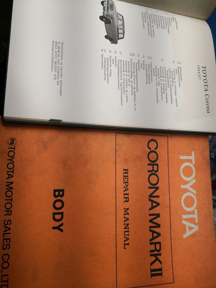 (136)Reparationsbøger, Toyota Corona mark 2