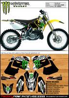 Suzuki Rm 125 250 2001-09 Dirt Bike Graphics Motocross Graphics Decal M Claw