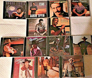 COUNTRY MUSIC CD's (GEORGE STRAIT & AARON TIPPIN)