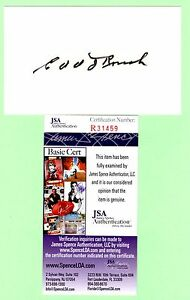 Edd Roush Signed Autograph 3x5 Index Card JSA R31459