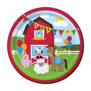 Piatti-Carta-22-cm-Festa-Compleanno-Fattoria-PS-07996-Farmhouse