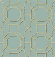 Fd21737 - Empress Room Summer Trellis Turquoise Fine Decor Wallpaper