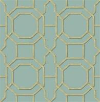 Fd21737 - Empress Room Summer Trellis Turquoise Fine Decor Wallpaper