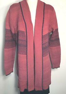 Cabi-womens-Joy-cardigan-sweater-red-purple-knit-size-XL