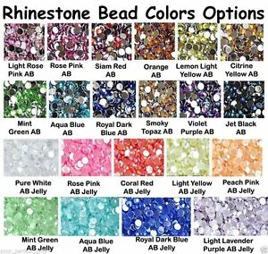 2000pcs-Acryl-Rhinestone-Crystal-Half-Round-Flatback-Beads-Gems-2-3-4-5mm
