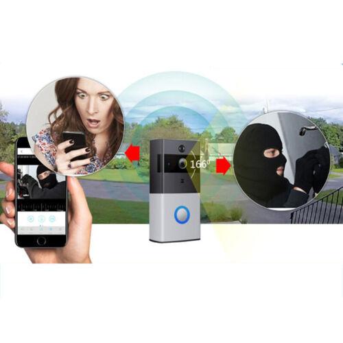 Wireless WiFi Video Doorbells Two-Way Smart Phone Door Ring Security Camera Bell