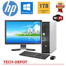 "HP Desktop PC Computer Windows 10 Core 2 Duo 8GB Ram 1TB Win 10 WiFi 19"" Monitor"
