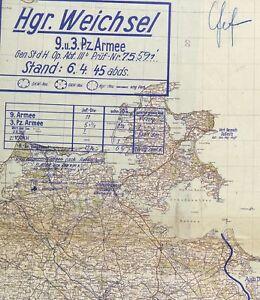 """Heereskarten der Heeresgruppe """"Weichsel"""", M 1:300 000"""
