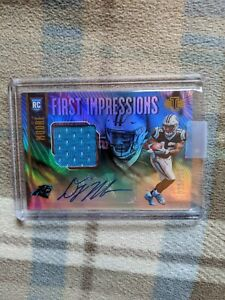 2018-PANINI-ILLUSIONS-1st-IMPRESSIONS-DJ-MOORE-AUTO-PATCH-ROOKIE-RPA-86-225