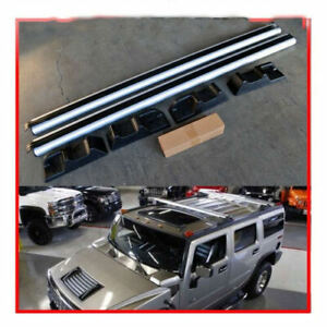 For 03 09 Hummer H2 Oe Style Silver Roof Rack Cross Bars Set Luggage Carrier Ebay