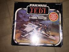 VINTAGE 1981 KENNER STAR WARS RETURN OF THE JEDI BATTLE DAMAGED X-WING FIGHTER