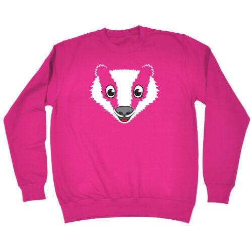 Funny Kids Childrens Sweatshirt Jumper Am Badger