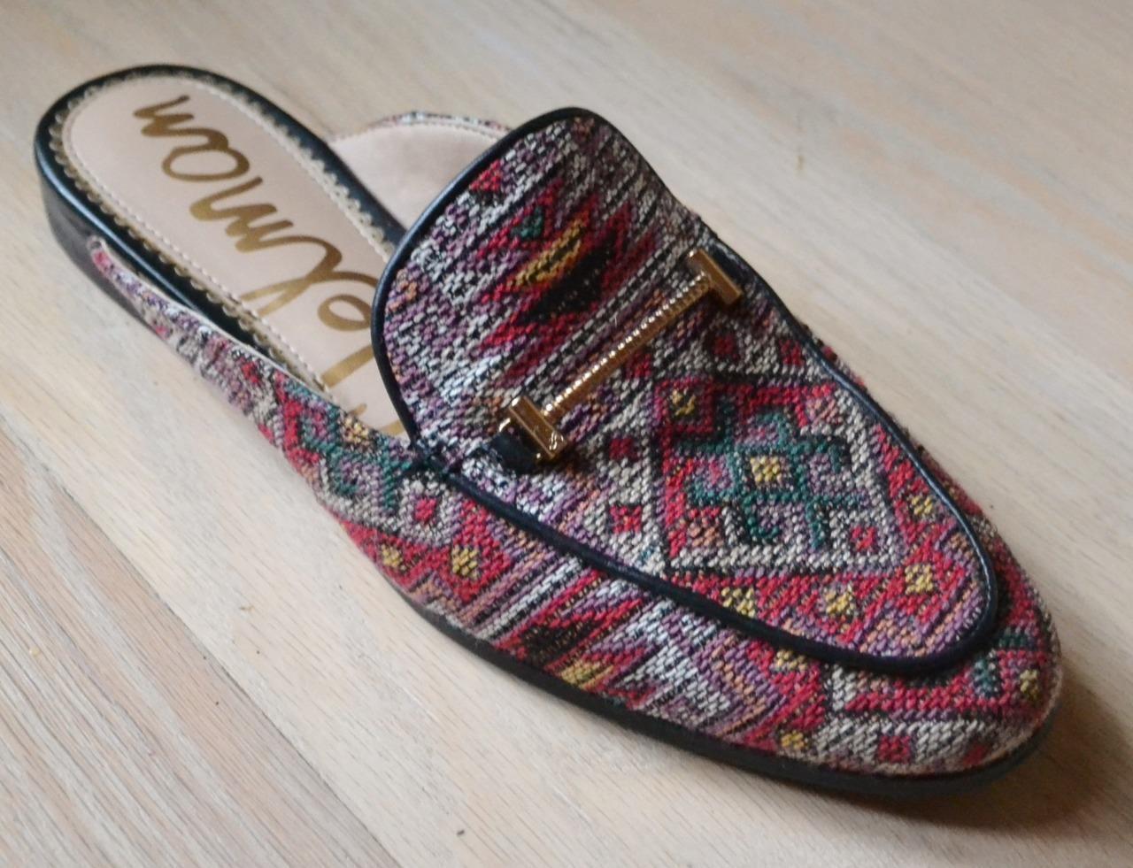 Sam Edelman laurna Rojo Navajo Tela sin talón Fáciles de de de poner zapatos talla 6.5  mejor calidad mejor precio