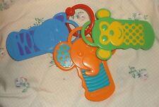 "GARANIMALS  Key Ring  Toy TEETHING Play  7""  Monkey ELEPHANT TIger"