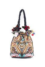 Hmong Draw String Bag Bird Pattern Embroidered Boho Bohemian Thai Fair Trade