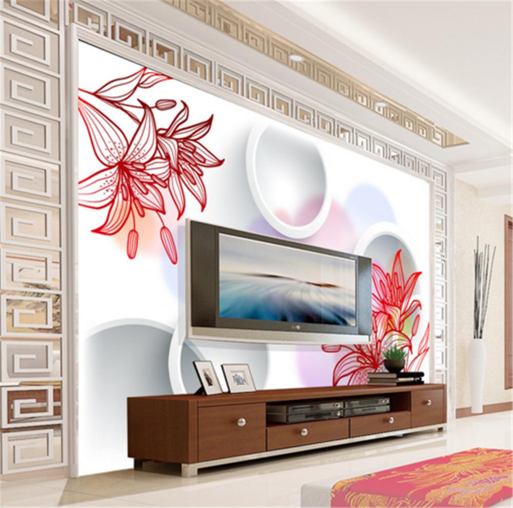 3D Circle Flowers 883 Wallpaper Mural Paper Wall Print Wallpaper Murals UK Carly