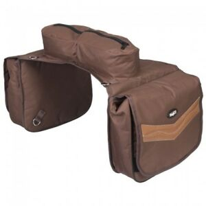 Tough-1-Brown-Elite-Insulated-Cantle-Saddle-Bag-Horse-Tack-61-9595-7-0