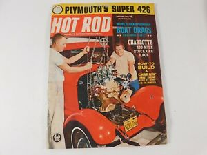 Vintage Original January 1963 Hot Rod Magazine Automotive Custom Car Mods