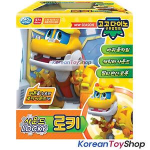 Gogo-Dino-LOCKY-SOUND-DX-Transformer-Robot-Dinosaur-Toy-Car-Yellow-Original