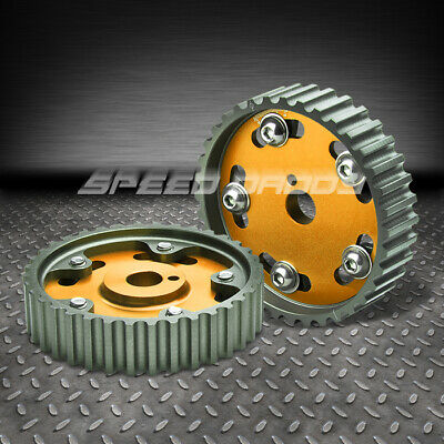 2X ALUMINUM CAM GEAR FOR TOYOTA 4AGE DOHC ENGINE MR2//AE86//COROLLA GTS GOLD